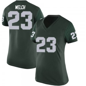 Andre Welch Nike Michigan State Spartans Women's Game Football College Jersey - Green