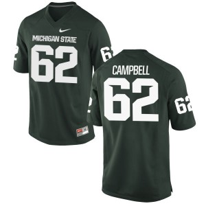 Luke Campbell Nike Michigan State Spartans Women's Replica Football Jersey  -  Green